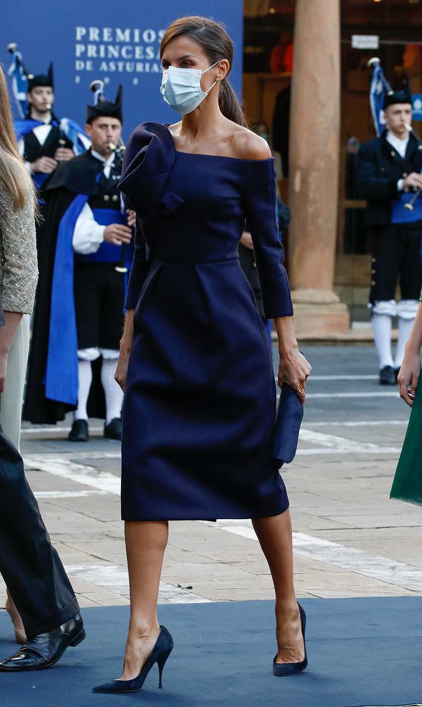 La reina Letizia a su llegada a los Premios Princesa de Asturias 2020