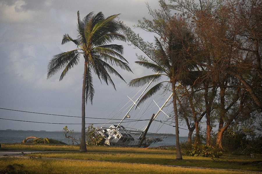 Estragos del huracán Irma en 2017