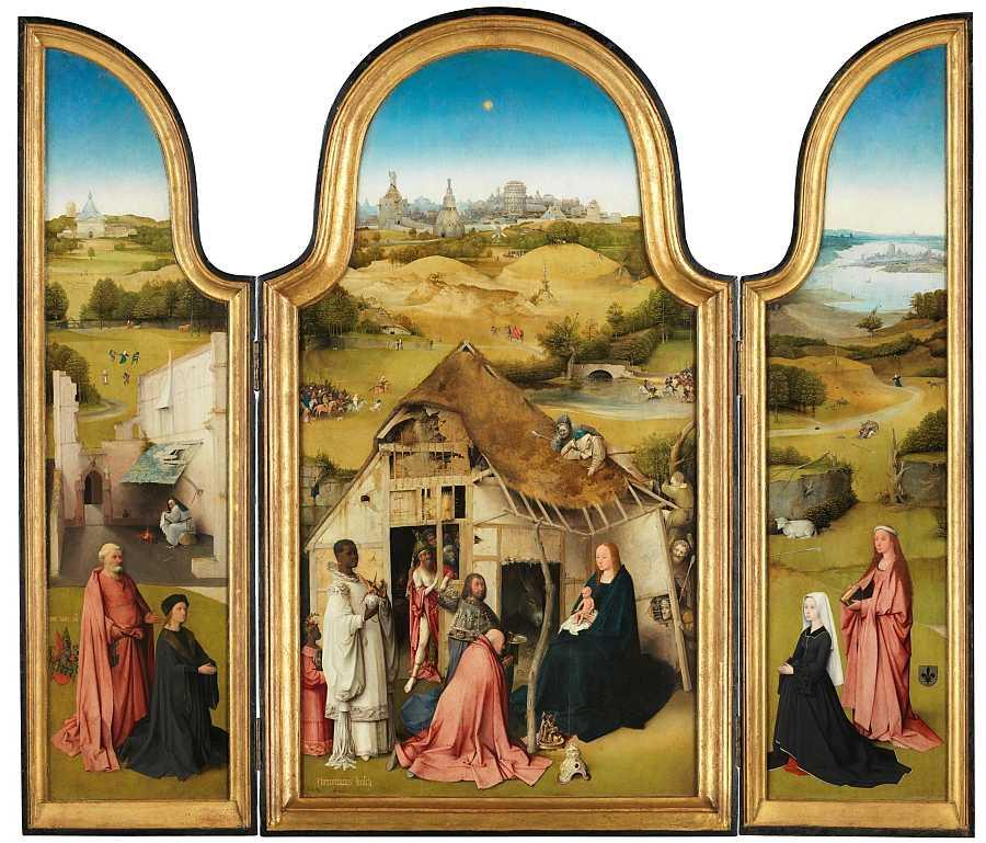 'La Adoración de los Magos', una obra de El Bosco se expone en el Museo del Prado