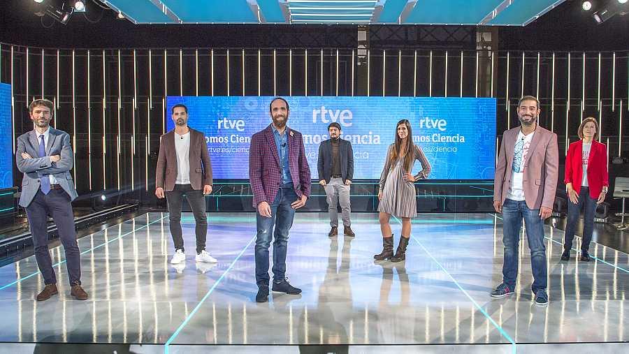 Presentadores y directivos de RTVE que han participado en el evento RTVE Somos Ciencia