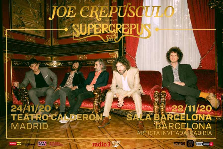 Joe Crepúsculo junto a The Crying Cowboys