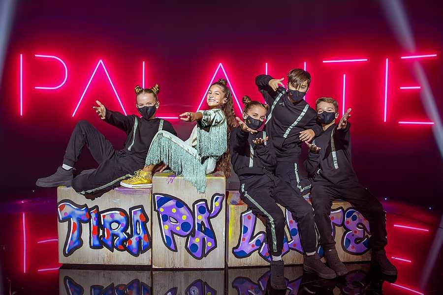 Soleá con sus bailarines: Tania, Lucía, Carlos e Iván