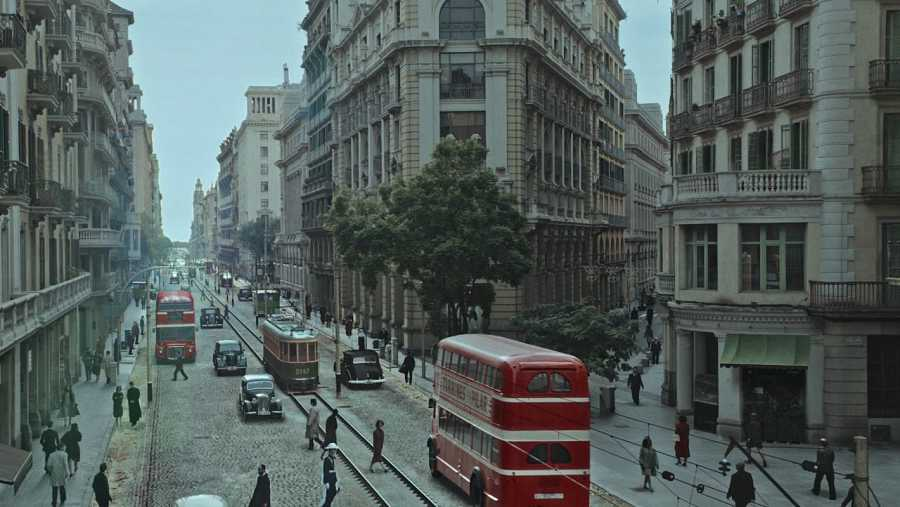 Un autobús original de los años cuarenta fue utilizado para el spot