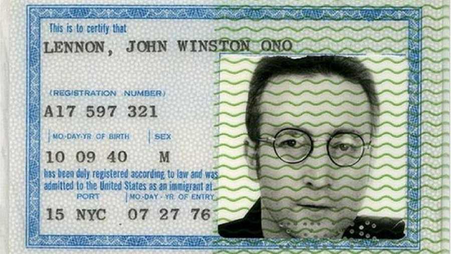 Permiso de residencia de John Lennon
