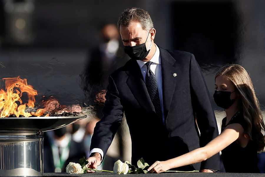 El rey, en una imagen del homenaje a las víctimas del coronavirus el pasado 16 de julio.