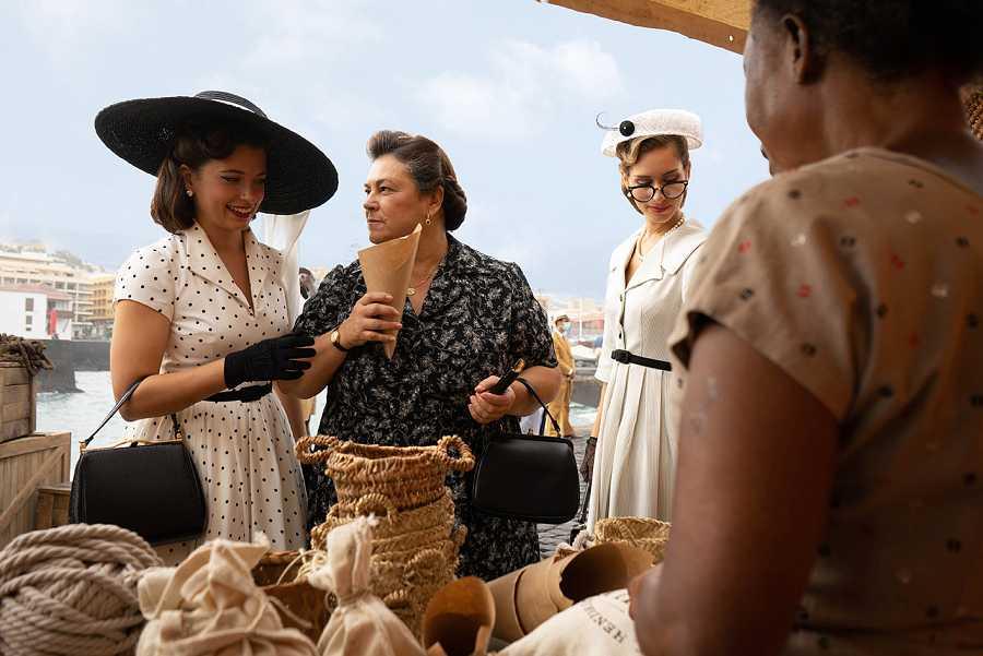 Carmen a su llegada a Guinea