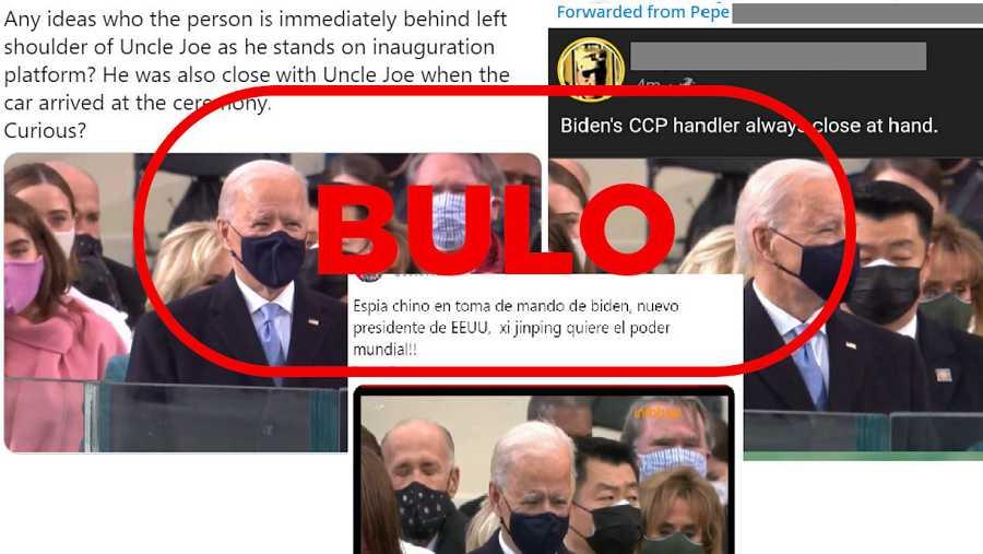 Capturas del bulo que relaciona a un agente del Servicio Secreto con el Partido Comunista de China