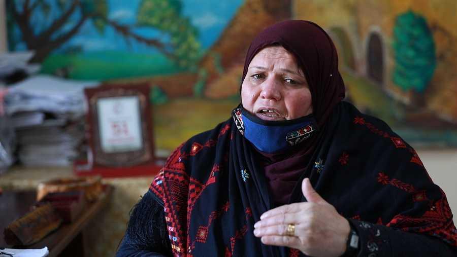 Tahani Al Jamal, directora de la Asociación de Mujeres de Beit Lahia