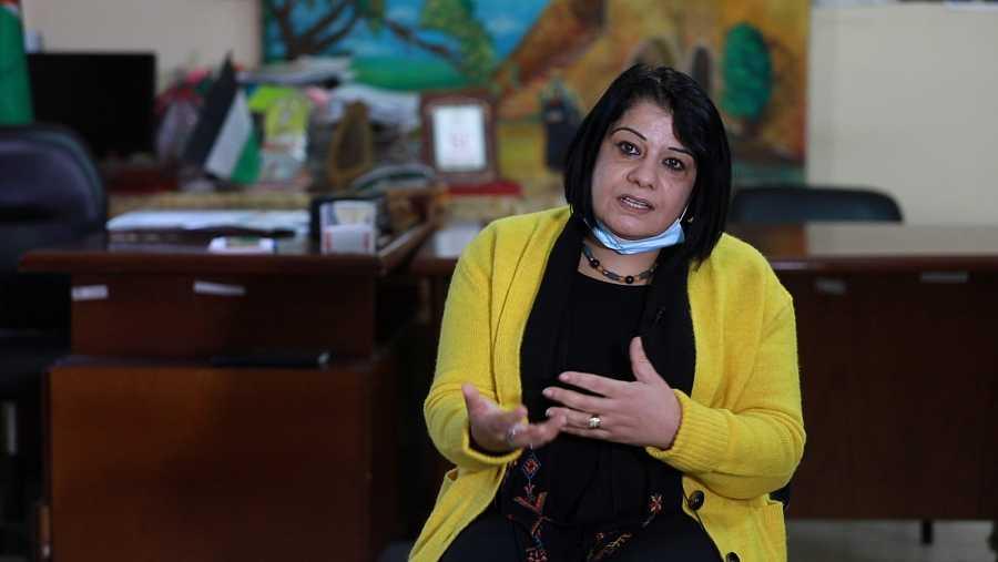 Taghreed Jomaa, directora ejecutiva de la Unión de Comités de Mujeres Palestinas