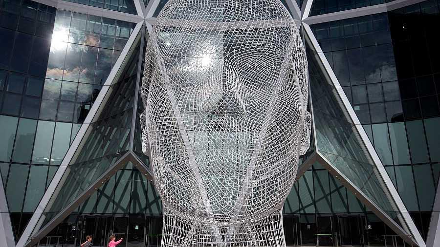 Escultura de Jaume Plensa (Calgary, Canadá)