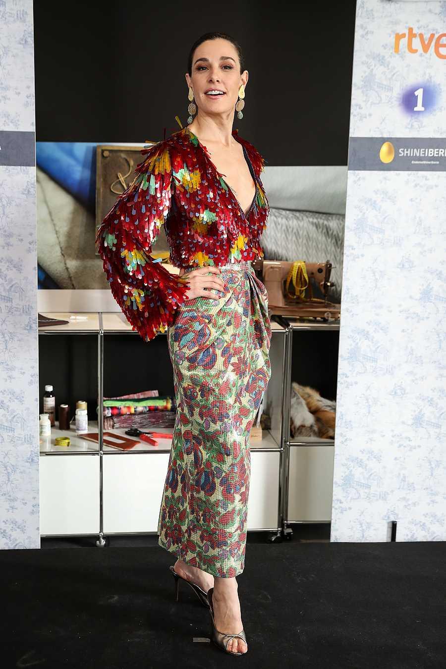 Raquel Sánchez Silva en la presentación de la tercera temporada de Maestros de la costura
