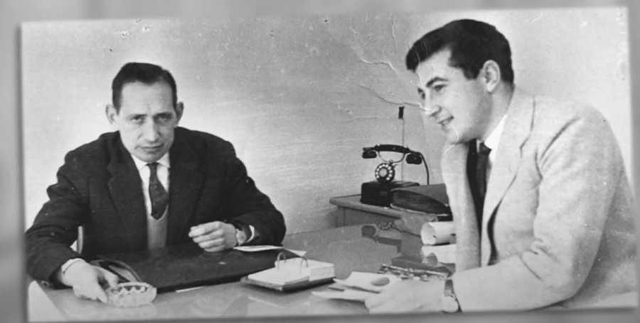 Manuel Leguineche y Miguel Delibes