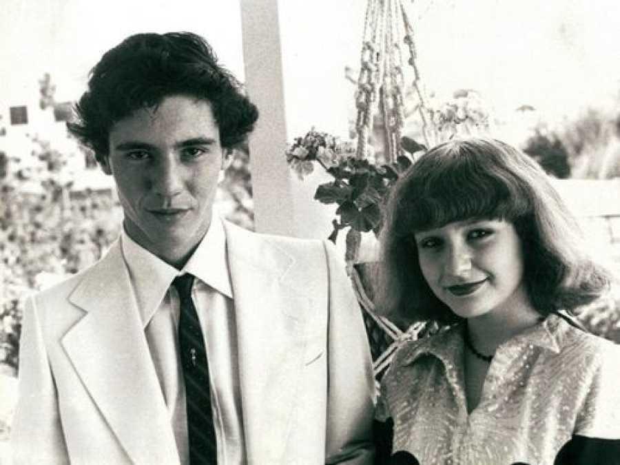 Bernardo Bonezzi y Alaska de jóvenes