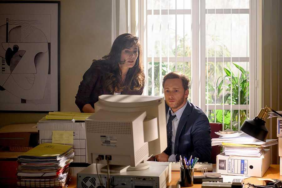 Marta y Toni en su nuevo trabajo