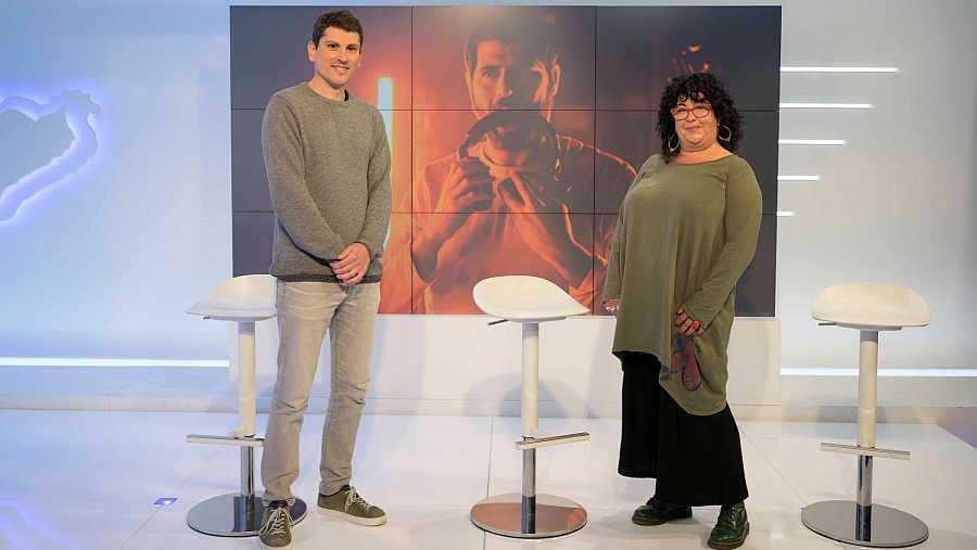 Gonzalo Bello i Consol Sáenz, a la roda de premsa de la presentació d''Efecte Collins'