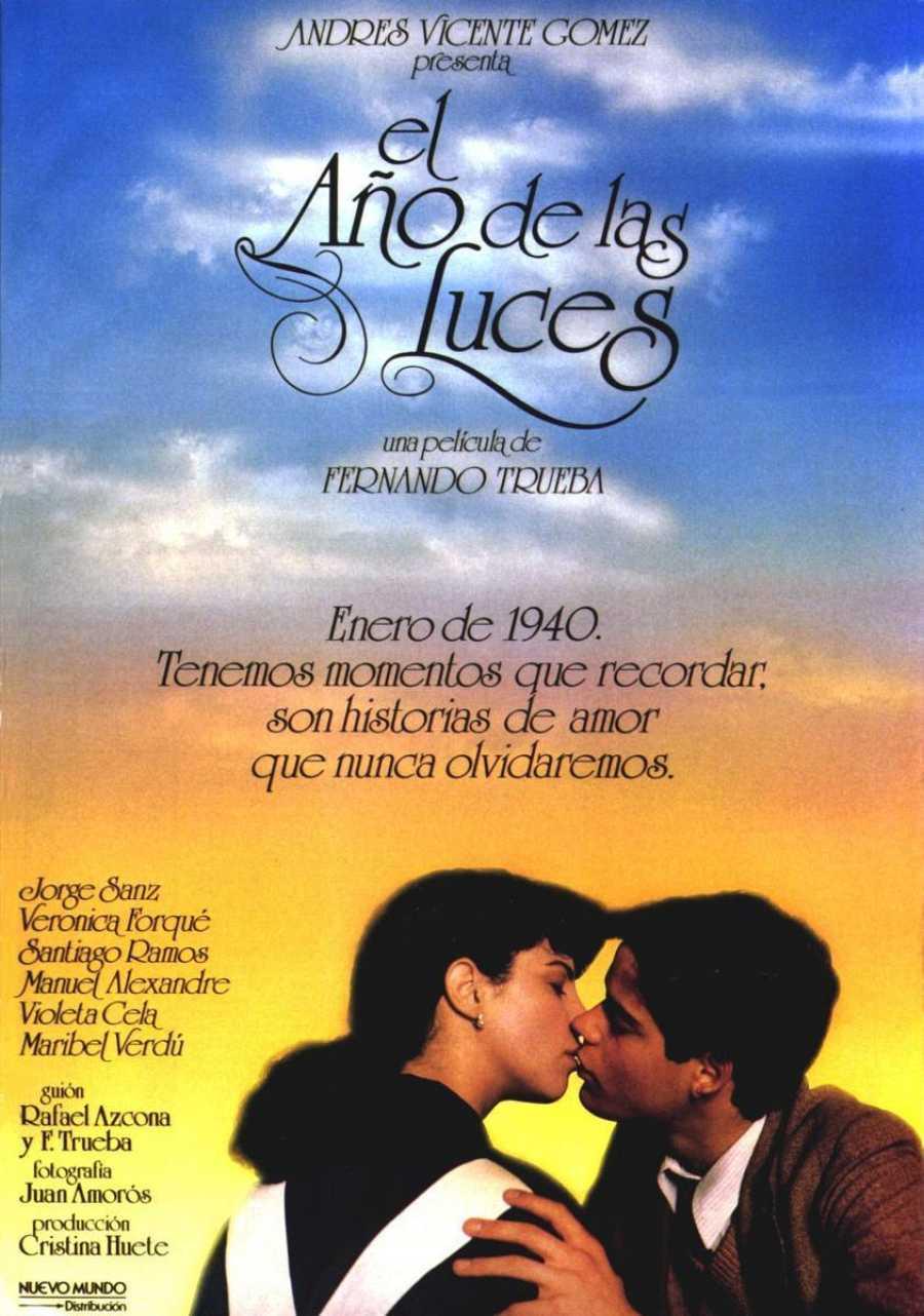 Cartel 'El año de las luces' (1986)