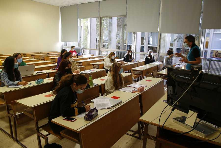 Clase en la Facultad de Empresariales de la Universidad de Granada.