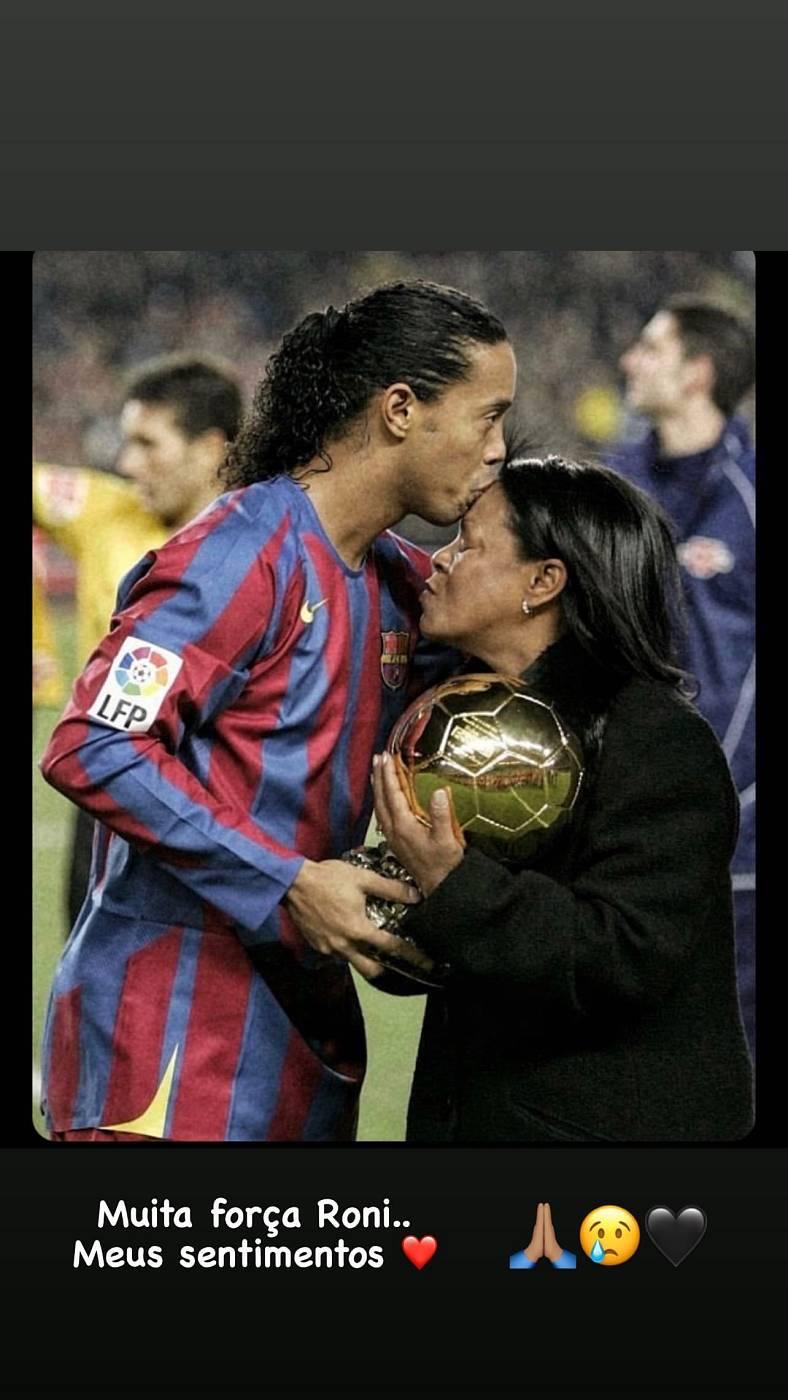 El pésame de Neymar Jr. a Ronaldinho en Instagram
