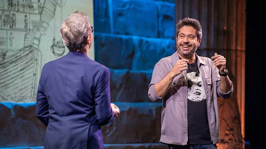 Miguel Iríbar y Juan Gomez Jurado, en otra sección del programa
