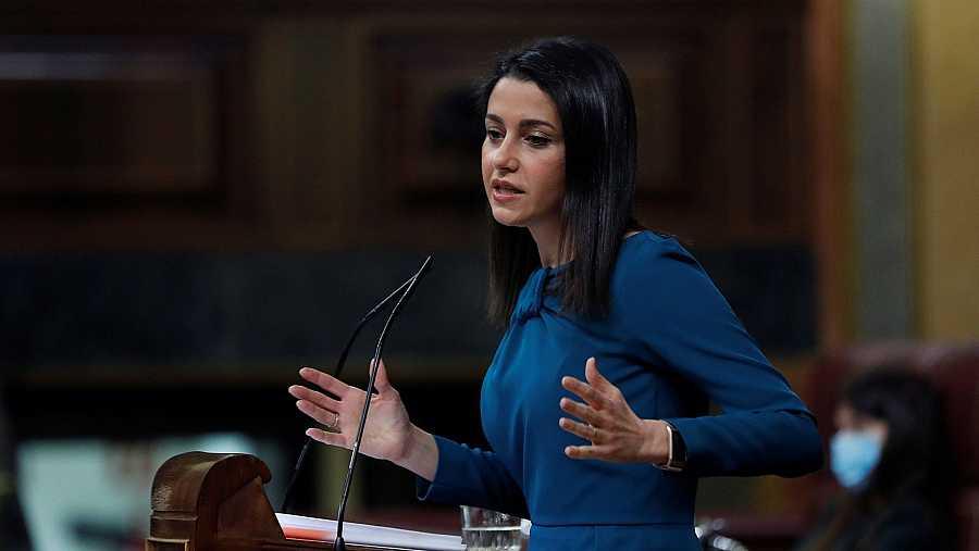 La líder de Ciudadanos Inés Arrimadas interviene en el pleno del Congreso