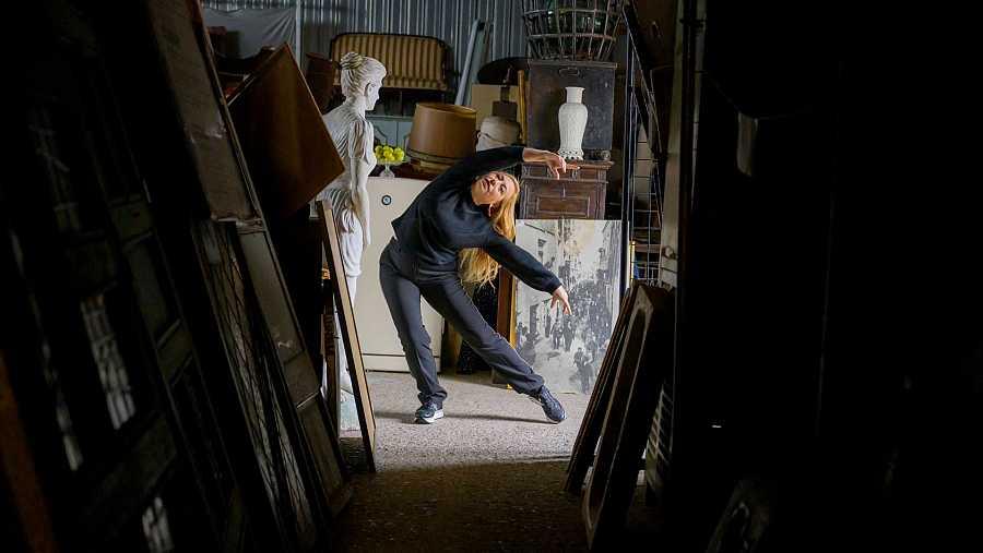 Maria Rovira fent una corepgrafia