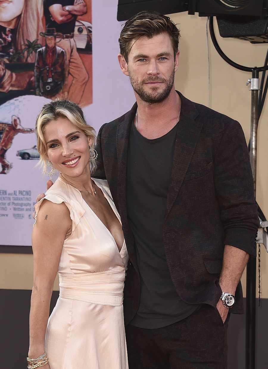 Chris Hemsworth y Elsa Pataky en la premiere de 'Érase una vez en Hollywood'