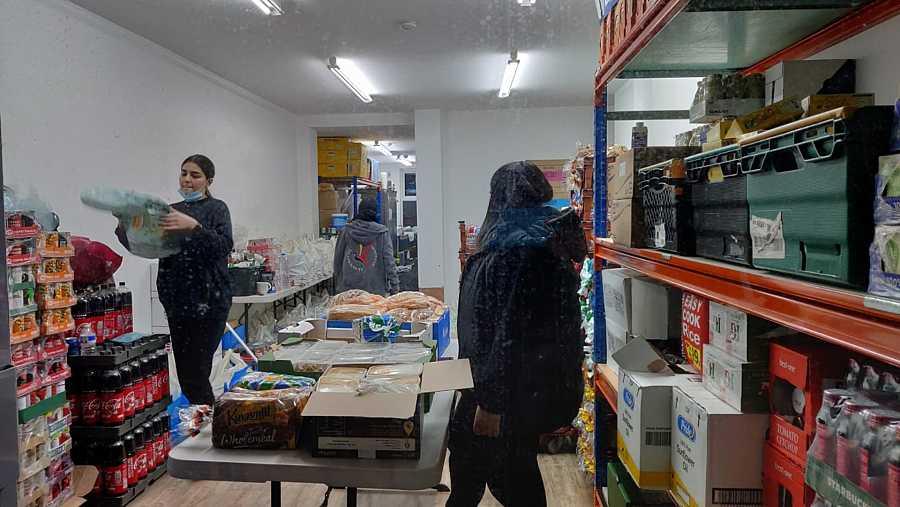 El banco de alimentos que gestiona Newham Community Project da cobertura específicamente a estudiantes internacionales.