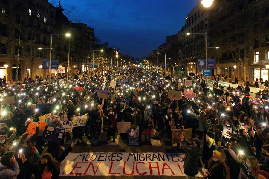 Manifestación estática por el Día de la Mujer