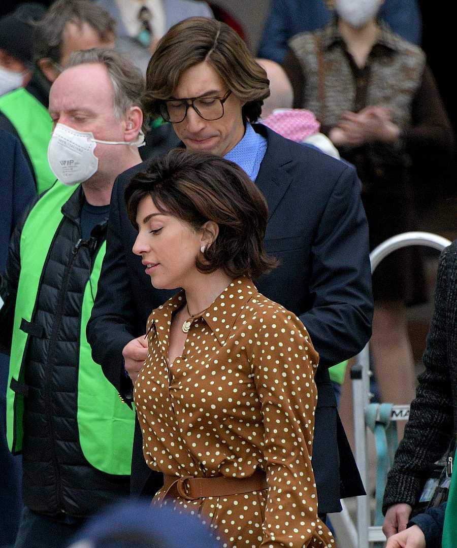 Lady Gaga y Adam Driver ruedan 'House of Gucci' en Milán