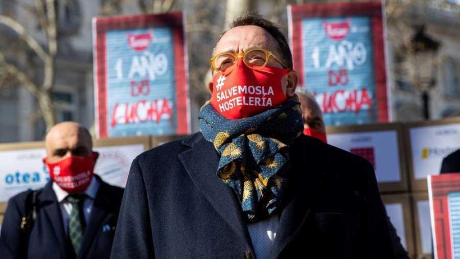 El presidente de Hosteleros de España protesta ante el Supremo