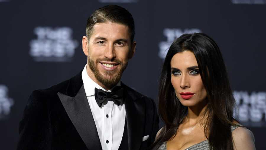 Sergio Ramos y Pilar Rubio durante un evento