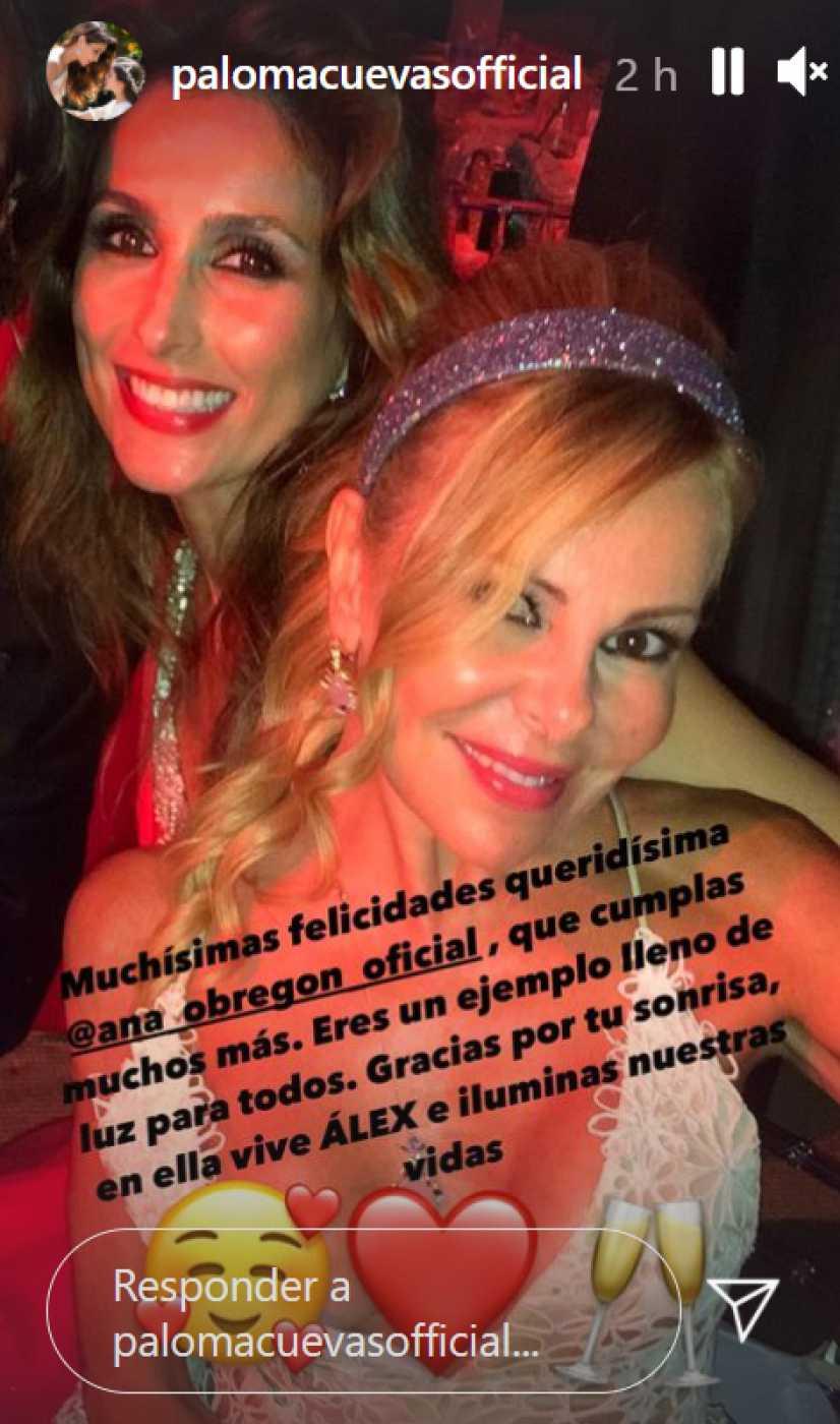 Paloma Cuevas felicita el cumpleaños a Ana Obregón