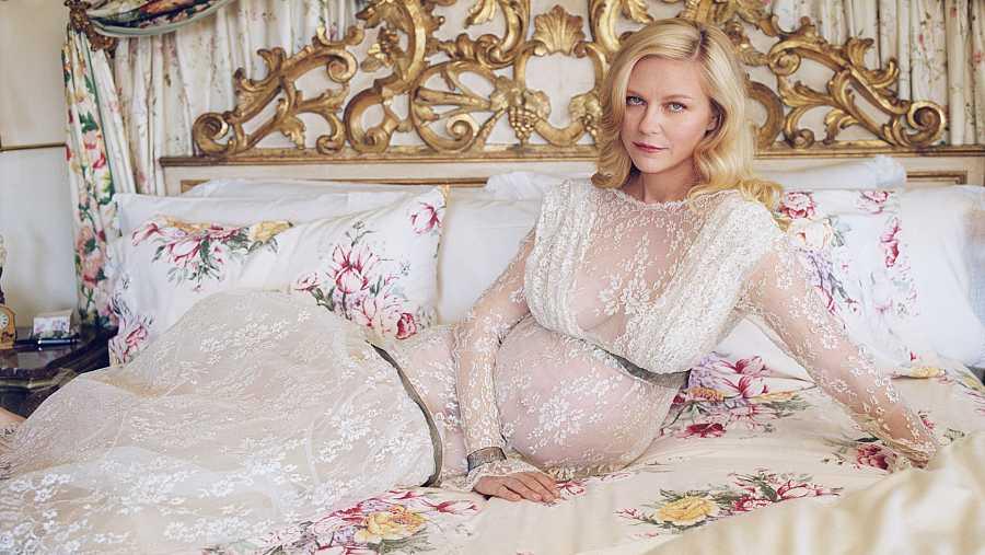 Kirsten Dunst anuncia que está embarazada en una sesión de fotos