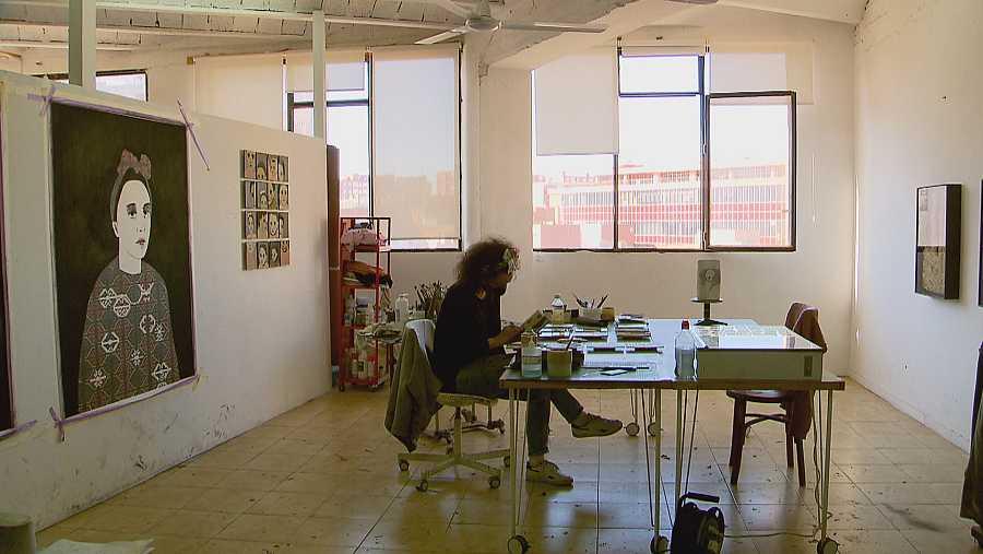 Andrea Lería valora la llum del seu estudi