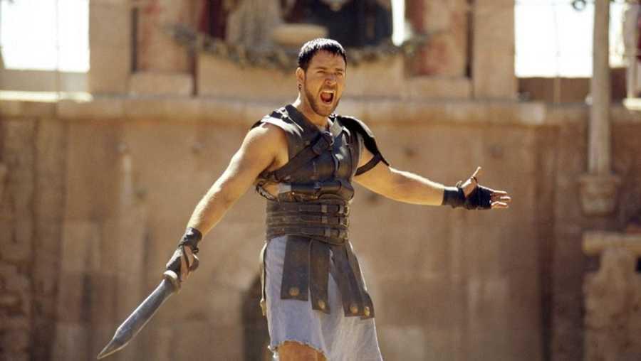 Russell Crowe interpreta a Máximo Décimo Meridio en la película 'Gladiator'
