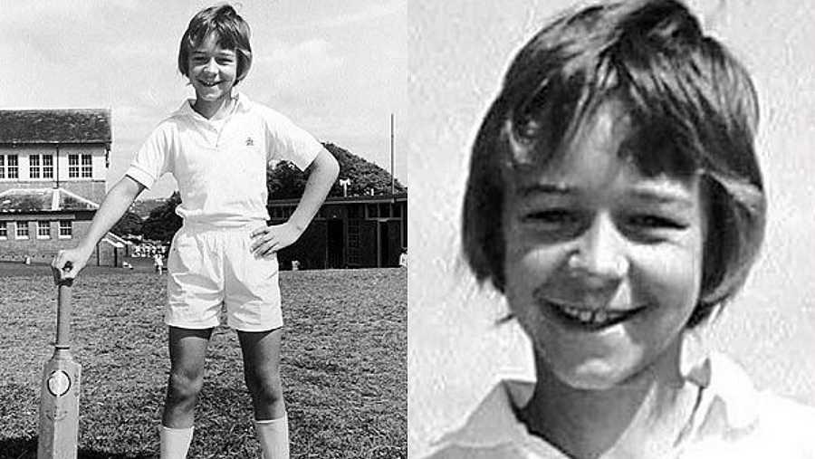 Russell Crowe cuando era niño