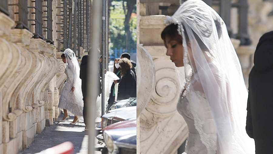 Lady Gaga sorprende vestida de novia, ¿y el afortunado?