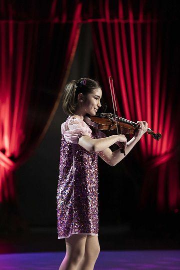 Sofía durante un momento de su actuación.