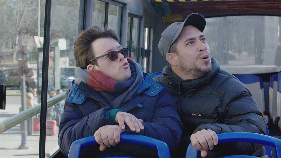 El Langui y Pablo Pineda en uno de los programas de la primera temporada