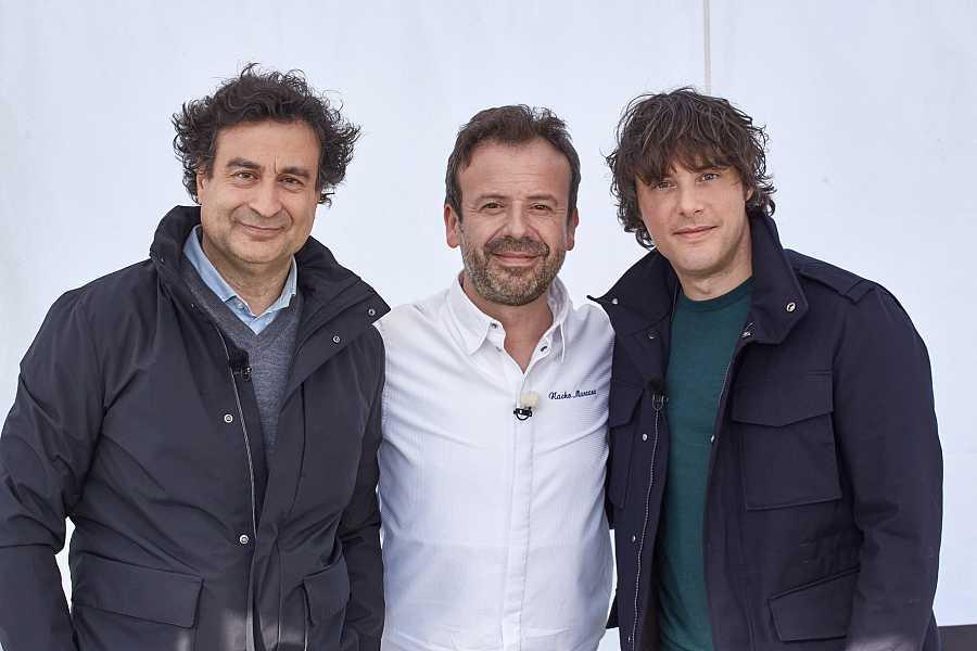 Jordi y Pepe con Nacho Manzano en laprueba de exteriores