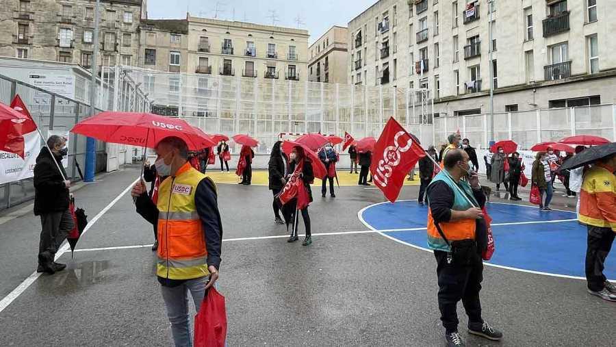Concentració d'USOC a Barcelona
