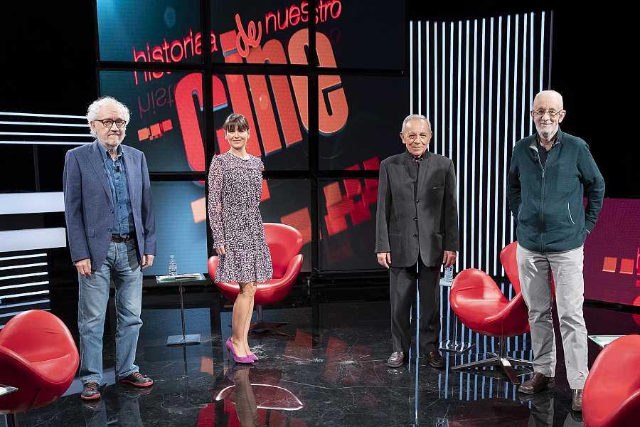 José Luis Gómez Martínez Lázaro y Carlos Heredero, con Elena S Sánchez