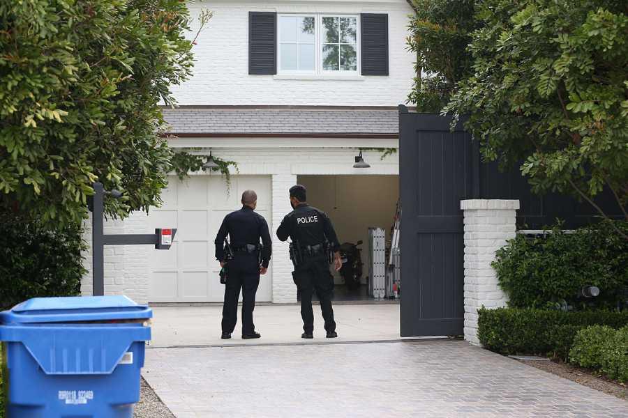 La policía en la mansión de Ben Affleck