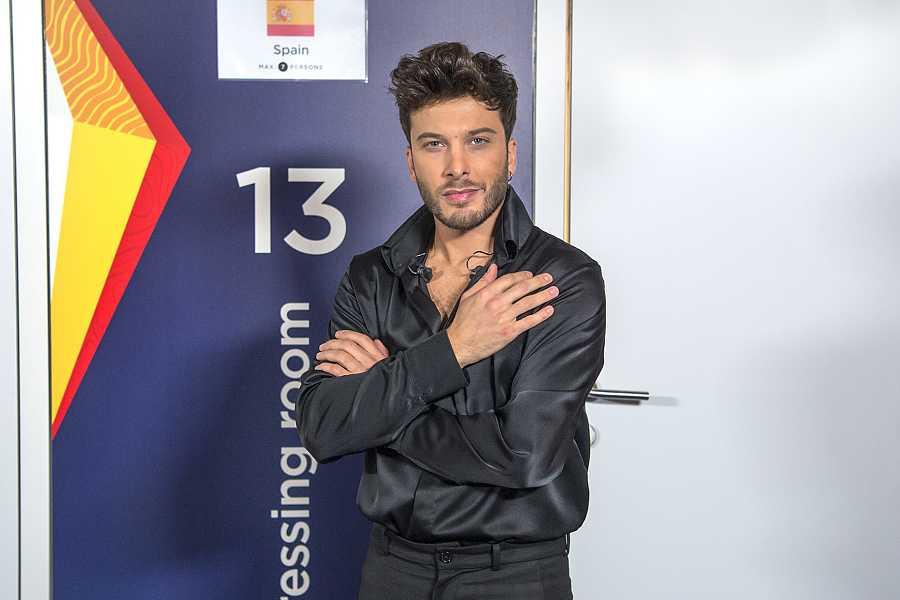 Blas Cantó justo antes de su actuación en Eurovisión