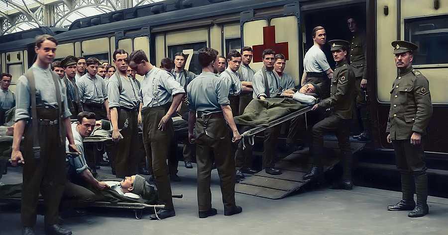 La Cruz Roja atendió a los soldados enfermos de la llamada gripe española