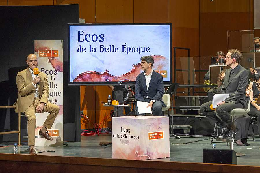 Ponentes de la presentación de la nueva temporada de la Orquesta y Coro RTVE