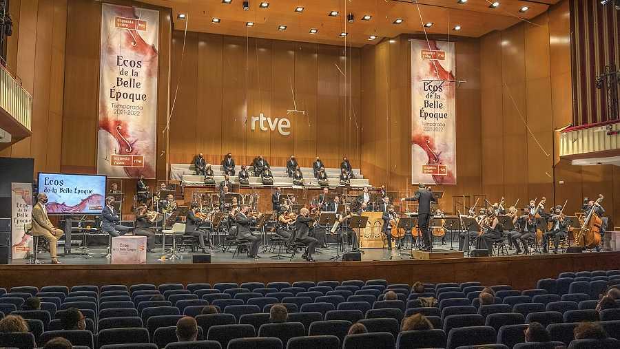 Presentación de la temporada 2021/2022 de la Orquesta RTVE en el Teatro Monumental de Madrid.