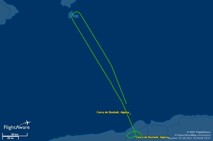 Seguimiento del vuelo procedente de Algeria con destino Logroño