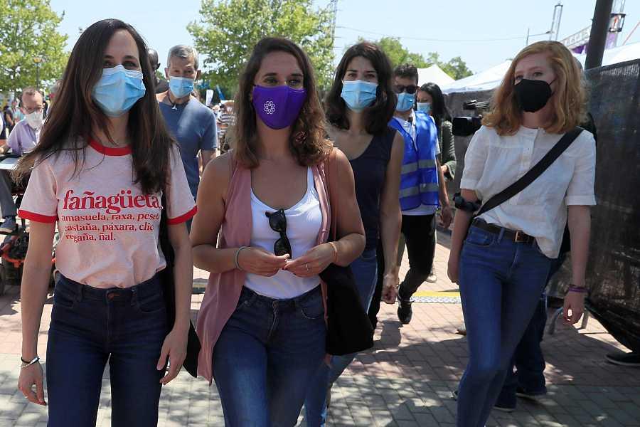 Ione Belarra, a su llegada a la IV Asamblea Ciudadana de Podemos