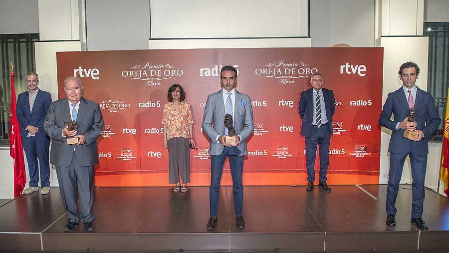 Premiados y entregadores en la Oreja y Hierro de Oro 2020 de RNE